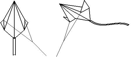 Простой воздушный змей из бумаги своими руками