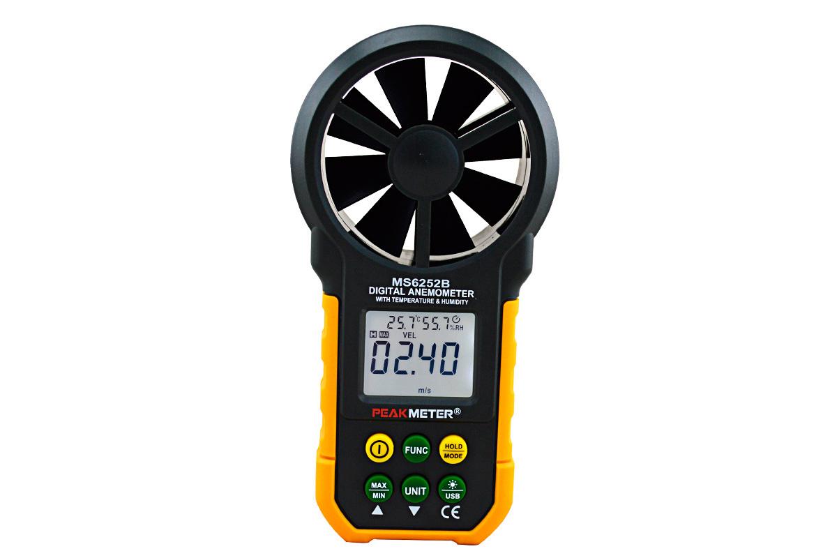 Анемометр цифровой профессиональный Peakmeter PM6252A [DA15]