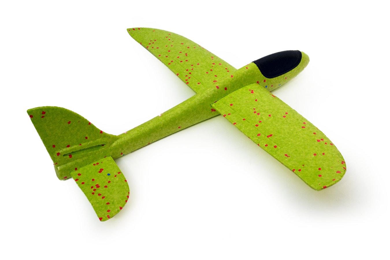 Самолет планер 48 см метательный из пенопласта салатовый [FLPP55G]