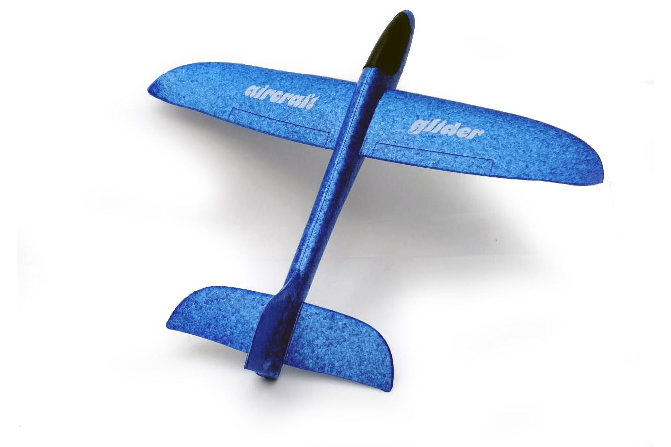 Планер 50 см из пенопласта синий [FLPP45B]