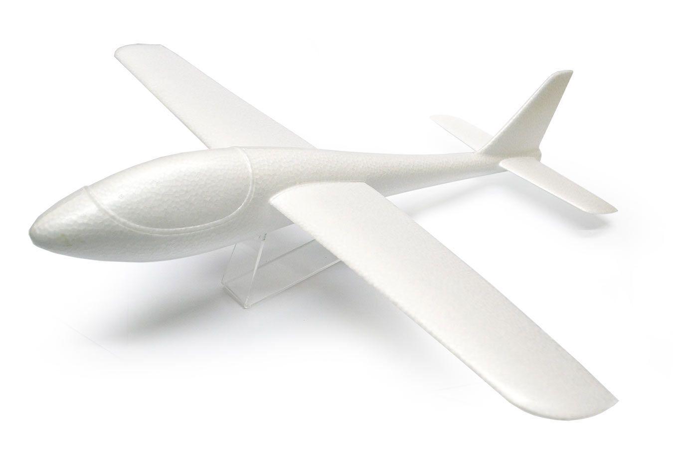 Летающий планер Glider 55 см из пенопласта с красками [FLPP55]