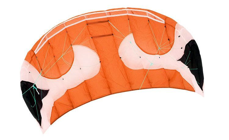 Кайт пилотажный Swing Kite Akari 2.2 оранжевый с планкой [KS2OP]
