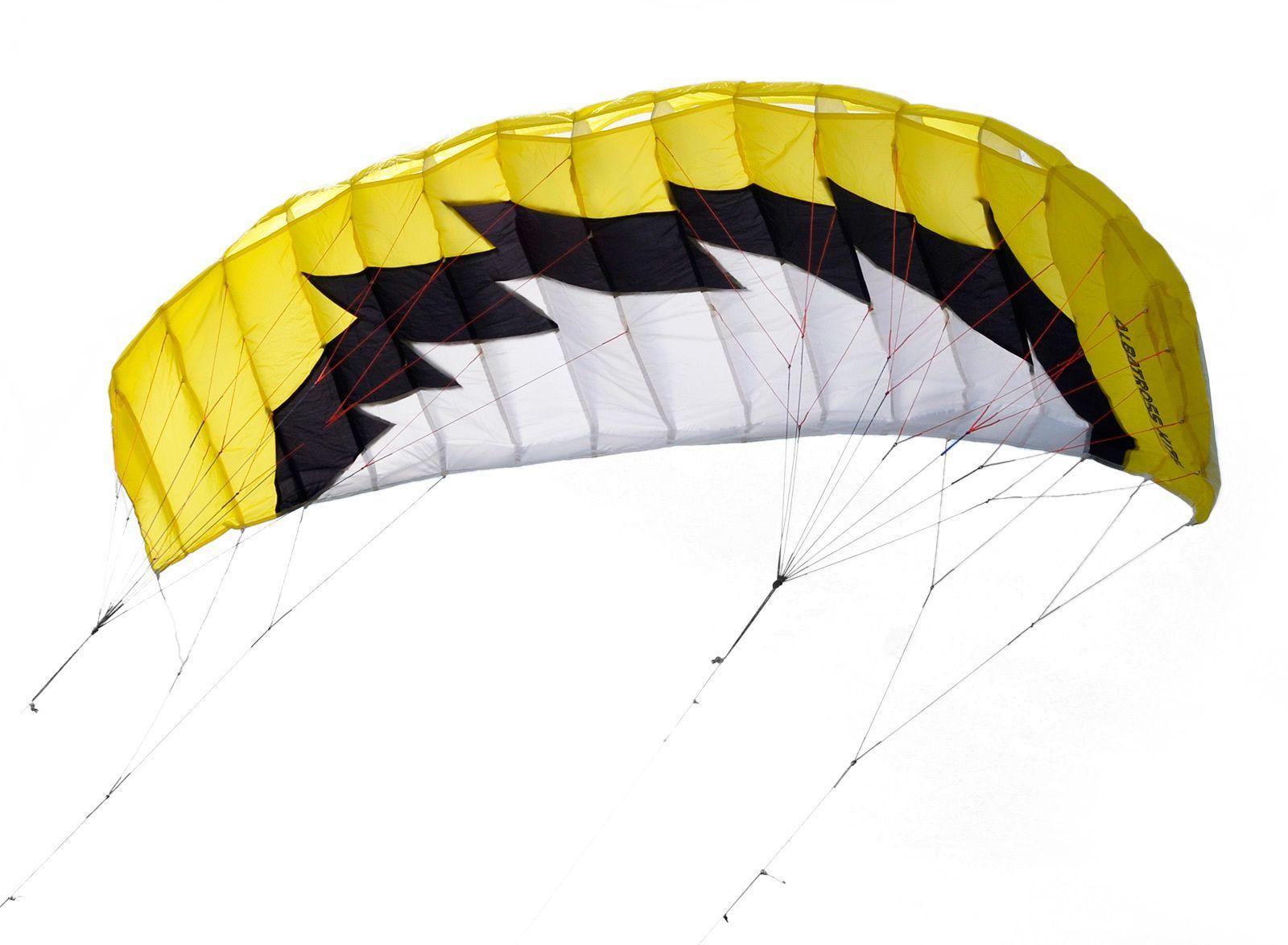 Кайт пилотажный четырехстропный Albatross Желтый Альбатрос, 2.6 кв.м [KP26Y]