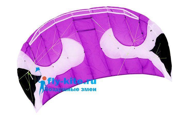 Кайт пилотажный SwingKite Akari 2.2 фиолетовый с ручками [KS2RP]