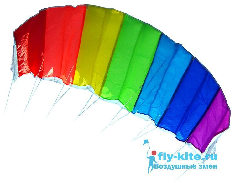 Кайт пилотажный Rainbow Power Kite Радуга [KRRK]