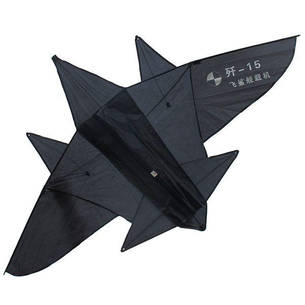 истребитель f-15, черный воздушный змей [zbtk009]