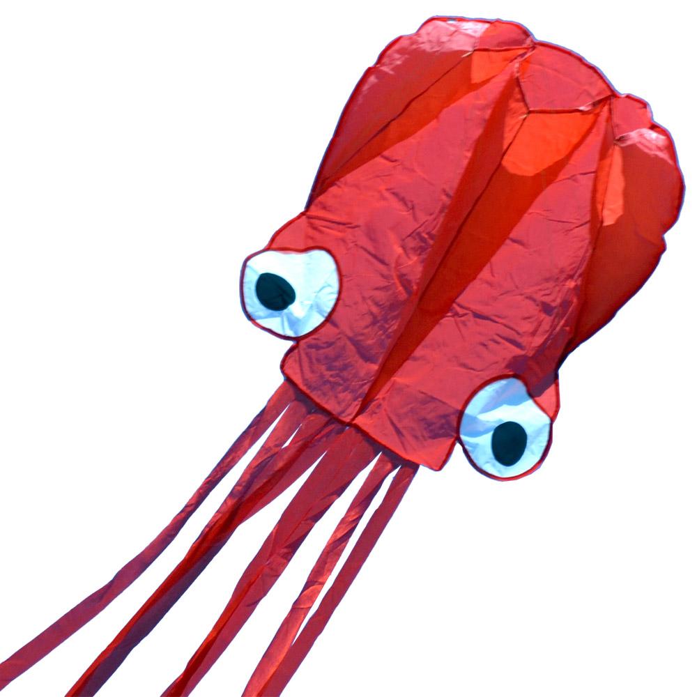 красный осьминог, воздушный змей 6 метров [zbor]
