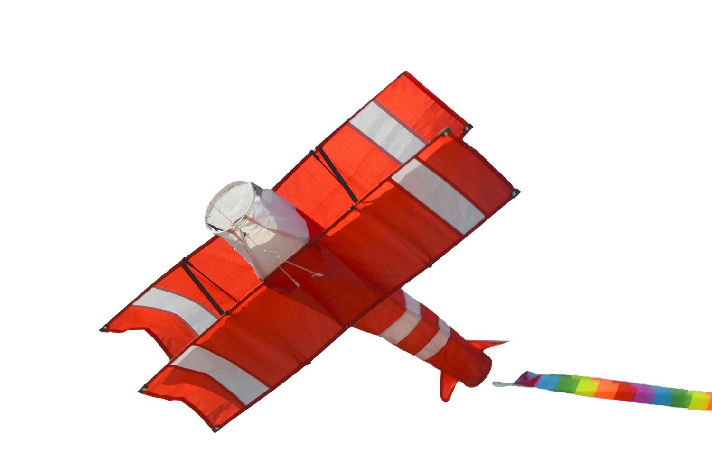 Ан-2 красный Кукурузник 3D, воздушный змей [ZB573]