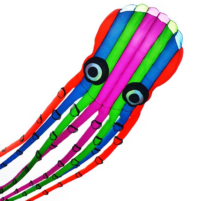 змей воздушный огромный цветной осьминог, 23 метра [zbh23]