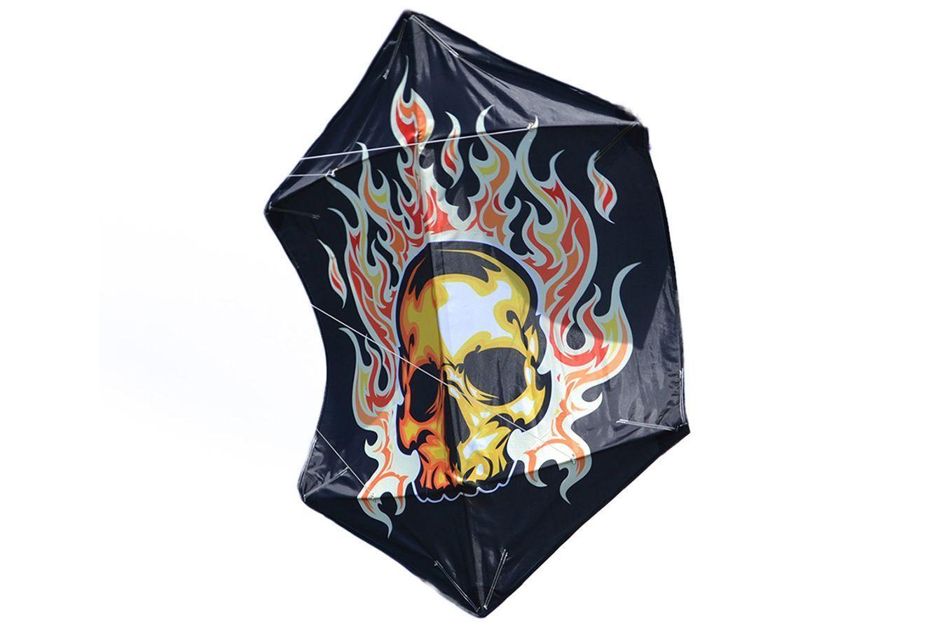 Огненная маска 1.2 метра, воздушный змей боевой Роккаку [ZBRRFM]