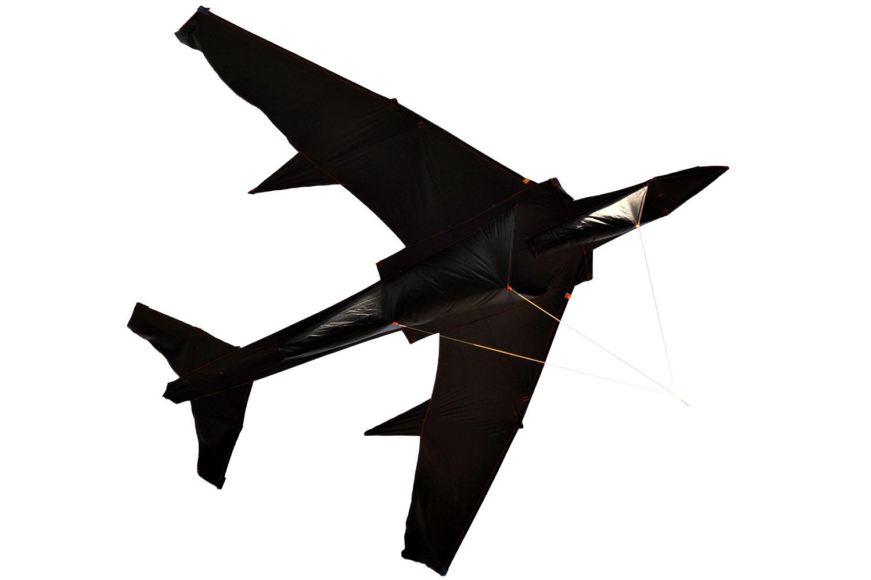 Гигантский черный ТУ-134, воздушный змей 2.8 метра [ZB760]