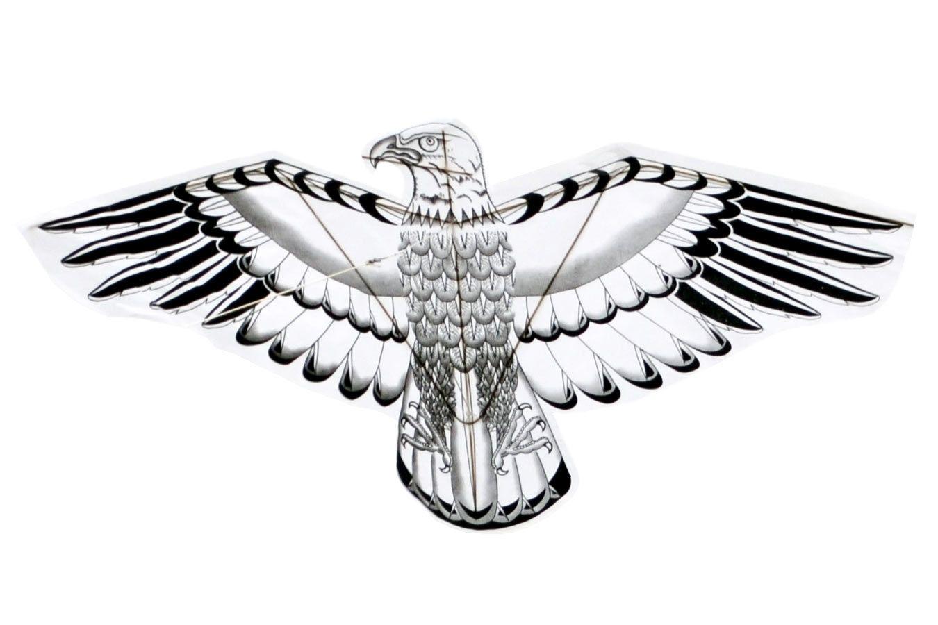 Змей воздушный Орел, раскраска с красками [ZBQCO]