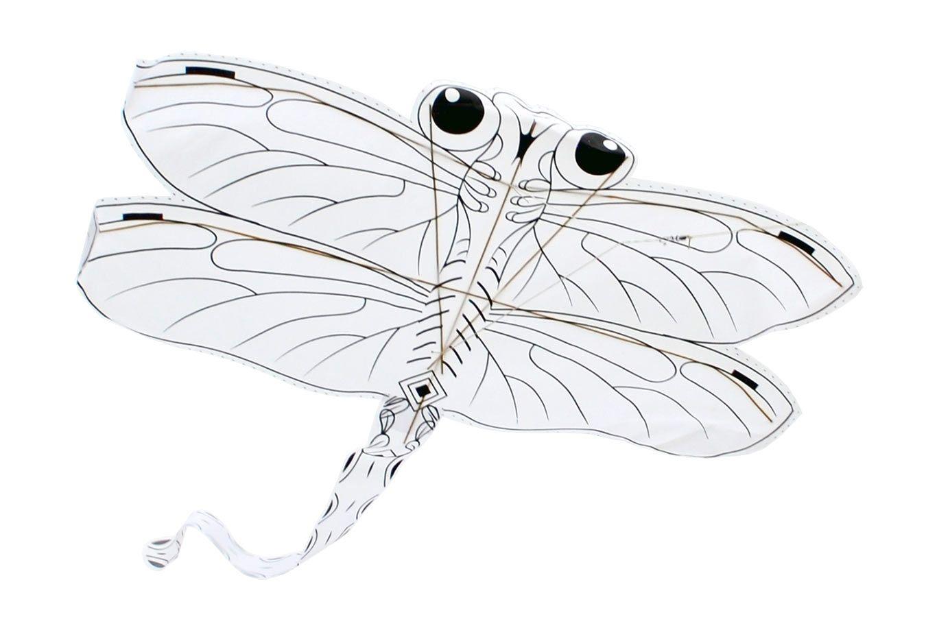 Стрекоза, воздушный змей раскраска с красками [ZBQCS]