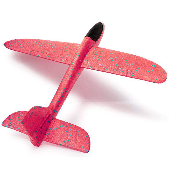 самолет планер 48 см метательный из пенопласта красный [flpp55r]