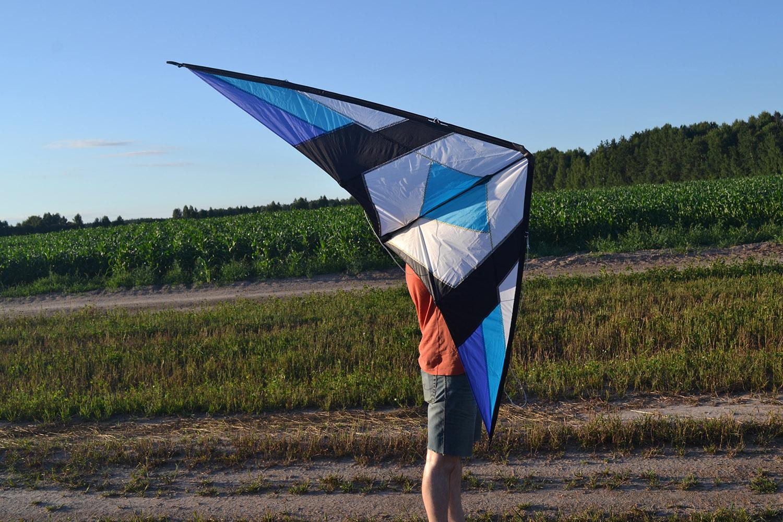 Синий Томагавк управляемый воздушный змей от fkite