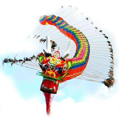 большой китайский дракон 20 метров, воздушный змей [zbbcd20]