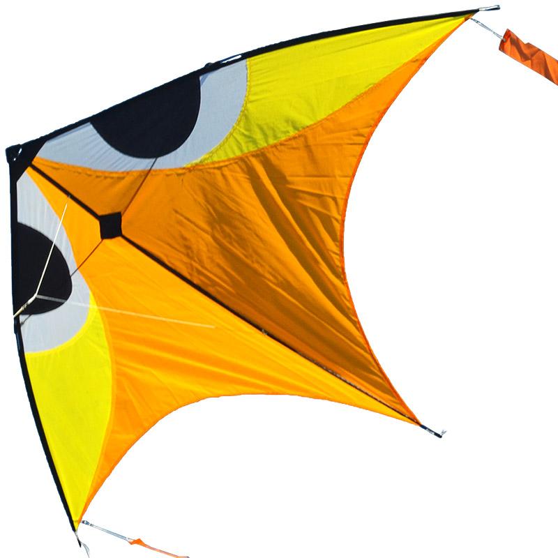 фантом оранжево желтый, воздушный змей [zb704]
