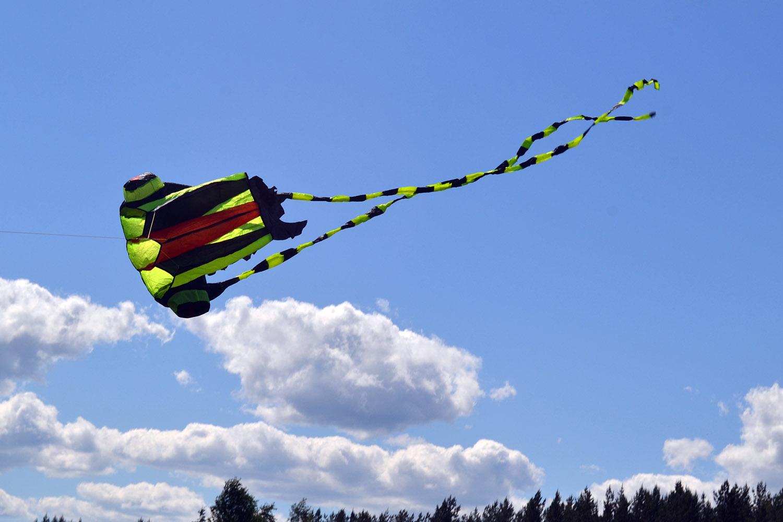 Каракатица, бескаркасный воздушный змей от ФКайт