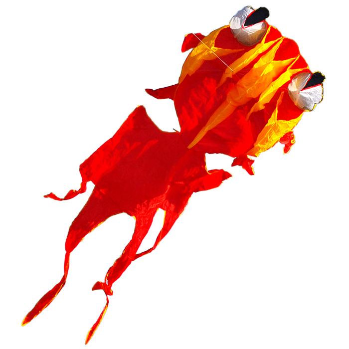 красная золотая рыбка, воздушный змей 3 метра [zbjjr]