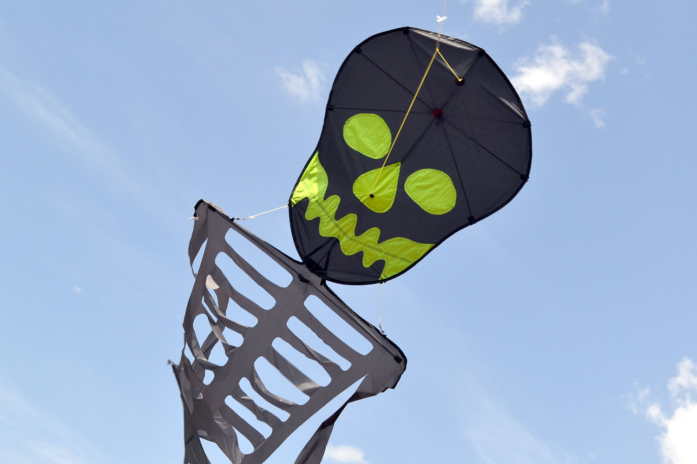 Танцующий Скелет, воздушный змей от ФКайт
