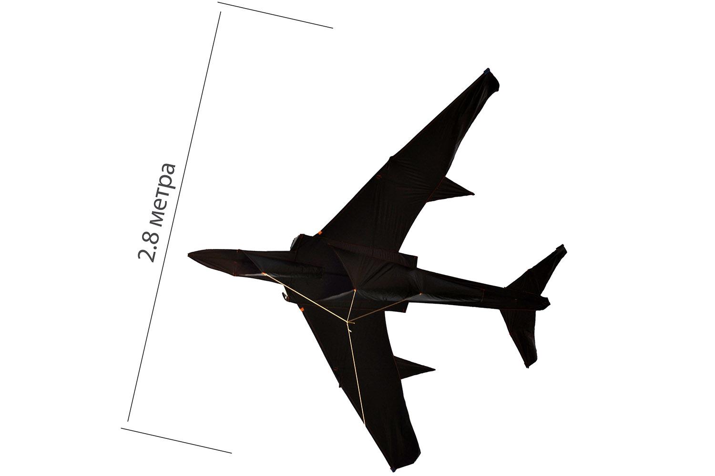 Гигантский черный ТУ-134, воздушный змей 2.8 метра